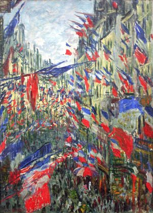 Rue Montargueil with Flags