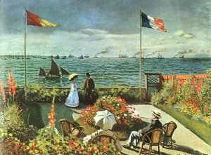 Claude Oscar Monet - Terrace at St Adresse