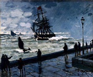 Claude Oscar Monet - The Jetty At Le Havre, Bad Weather