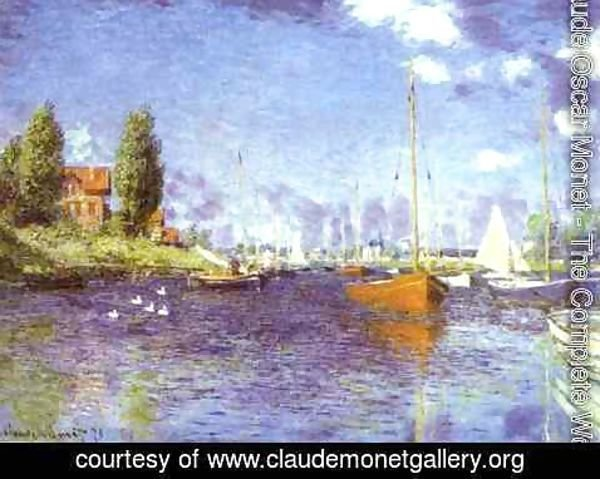 Claude Oscar Monet - Red Boats at Argentueil