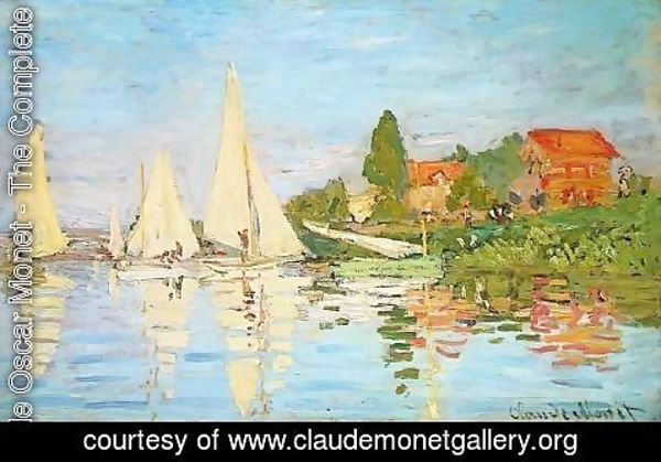 Claude Oscar Monet - The Regatta at Argenteuil