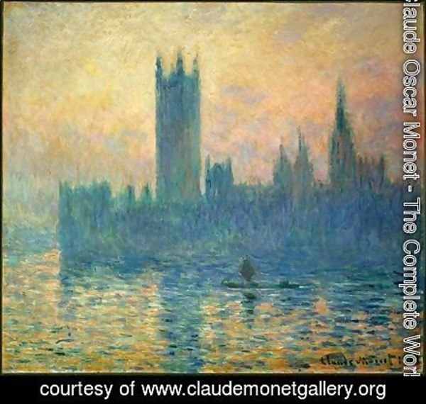 Claude Oscar Monet - The Houses of Parliament, Sunset