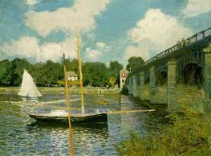 Claude Oscar Monet - The Highway Bridge at Argenteuil