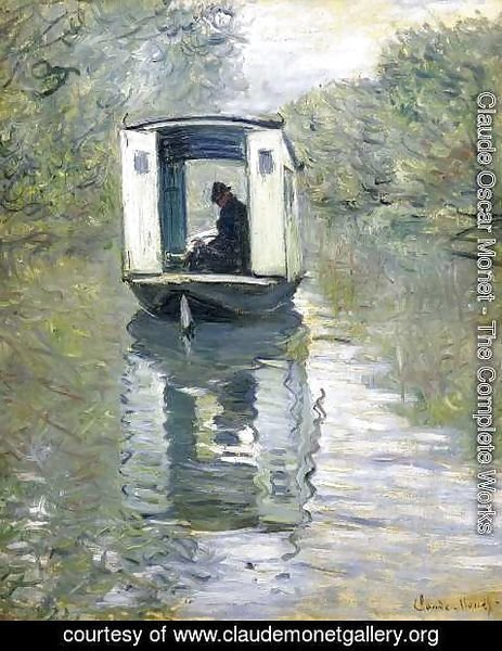 Claude Oscar Monet - The Boat Studio