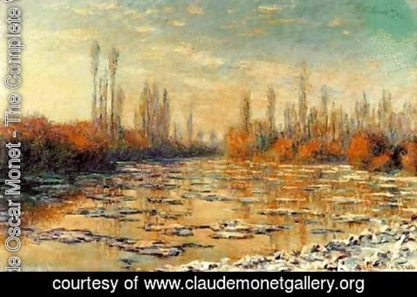 Claude Oscar Monet - The Floating Ice