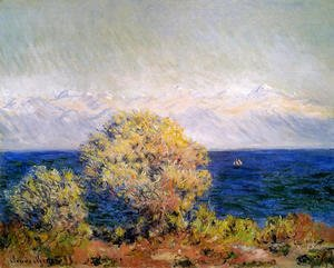 Claude Oscar Monet - At Cap d'Antibes, Mistral Wind