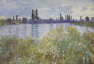 Claude Oscar Monet - Bank of the Seine. Vétheuil
