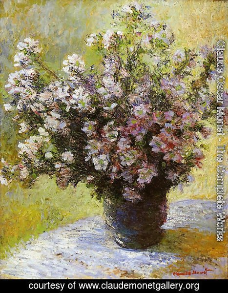 Claude Oscar Monet - Bouquet of Mallows 2