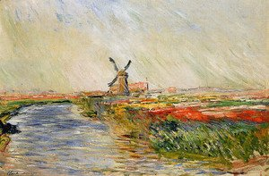 Claude Oscar Monet - Champ de tulipes en hollande, 1886