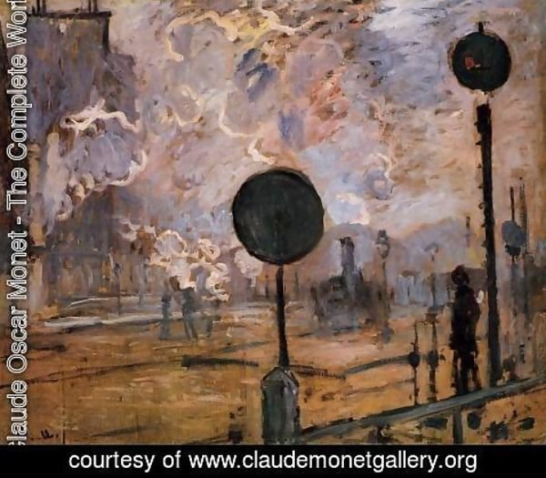 Claude Oscar Monet - Exterior of Saint-Lazare Station, The Signal