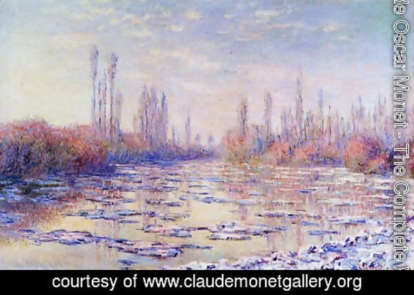 Claude Oscar Monet - Floating Ice 1