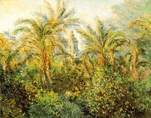 Claude Oscar Monet - Garden in Bordighera, Impression of Morning [1884]