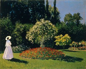 Claude Oscar Monet - Lady In A Garden, 1867