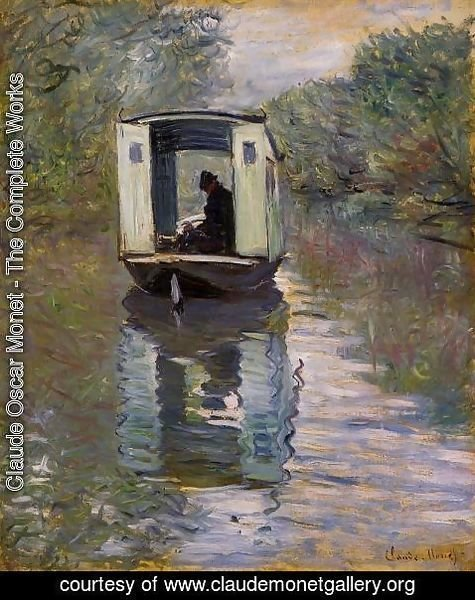 Claude Oscar Monet - Le Bateau Atelier (The Boat Studio)