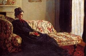 Claude Oscar Monet - Meditation, Madame Monet Sitting on a Sofa
