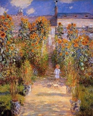 Claude Oscar Monet - Monet's Garden at Vetheuil 2