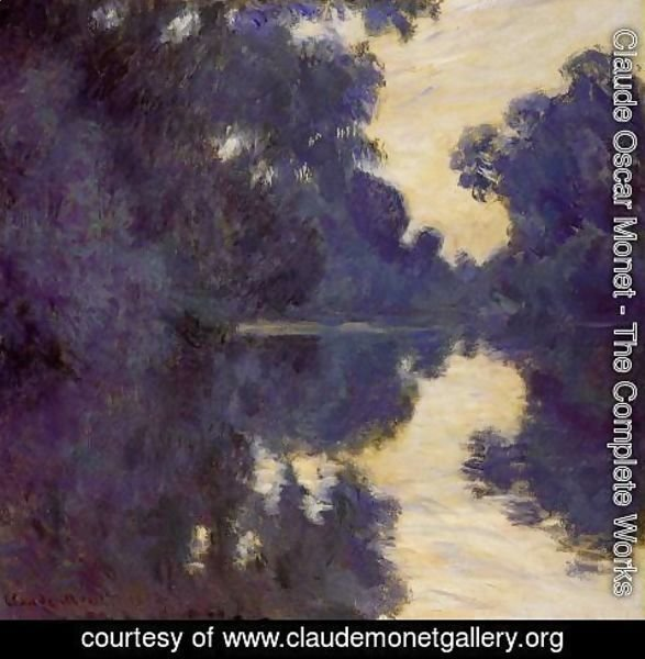 Claude Oscar Monet - Morning on the Seine 1