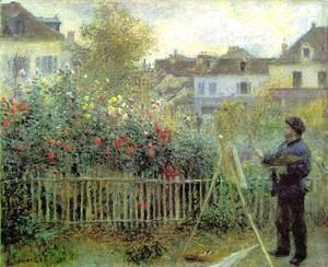 Renoir Painting In His Garden (1873)