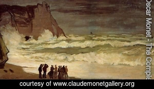 Claude Oscar Monet - Rough Sea at Etretat 2