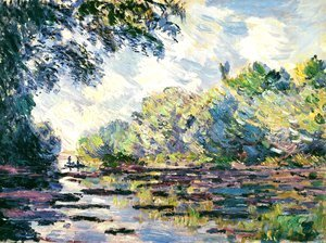 Claude Oscar Monet - Section of the Seine, near Giverny