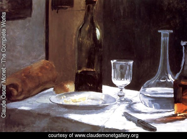 Still Life With Bottles 1859