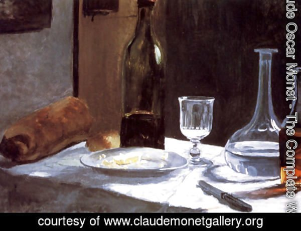 Claude Oscar Monet - Still Life With Bottles 1859