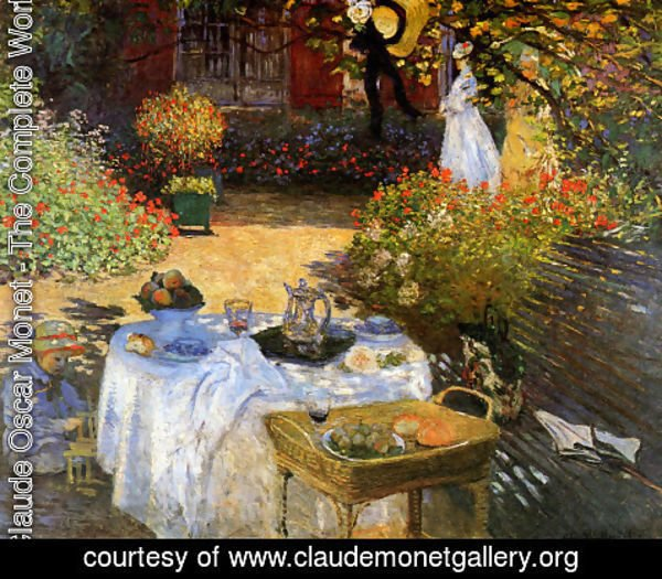 Claude Oscar Monet - The Afternoon Meal