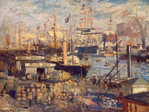 Claude Oscar Monet - The Grand Quai At Le Havre 1874