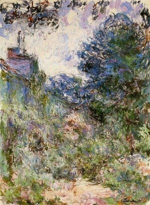 Claude Oscar Monet - The House Seen from the Rose Garden 1