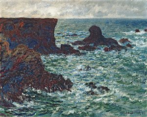 Claude Oscar Monet - The Lion Rock, Belle-Ile