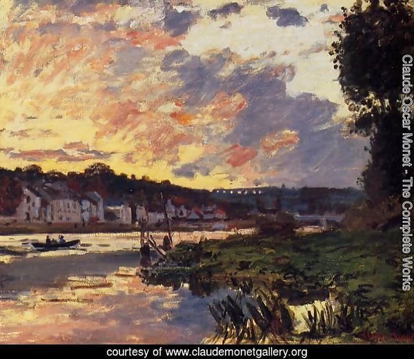 The Seine at Bougeval, Evening