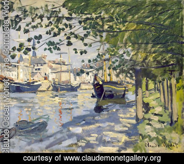 Claude Oscar Monet - The Seine At Rouen 1872