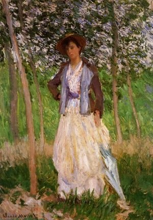Claude Oscar Monet - The Stoller (Suzanne Hoschede)
