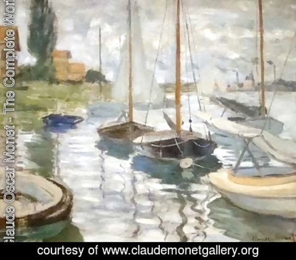 Claude Oscar Monet - Sailboats on the Seine