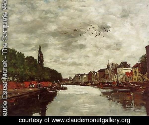 Claude Oscar Monet - A Canal near Brussels 1871
