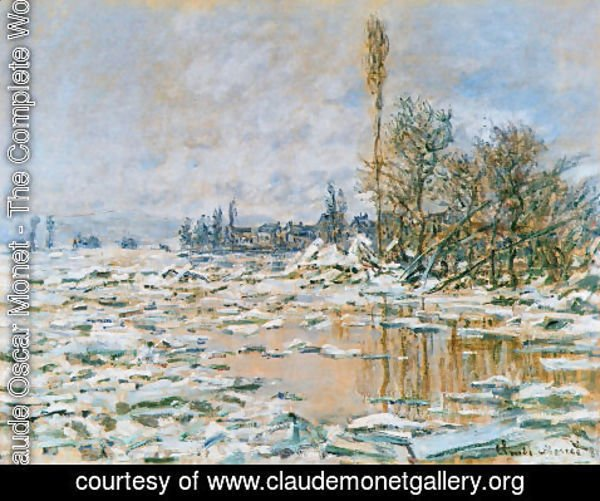 Claude Oscar Monet - Breakup of Ice Grey Weather 1880