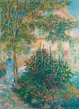 Claude Oscar Monet - Camille Monet in the Garden at Argenteuil 1876