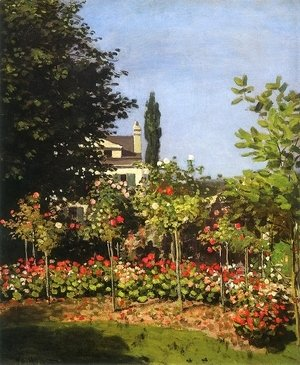 Claude Oscar Monet - Garden in Flower 1866