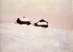 Claude Oscar Monet - Houses in the Snow 1895
