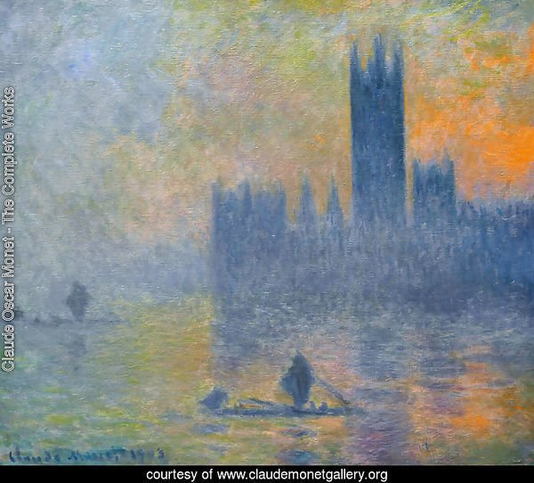 Houses of Parliament Fog Effedt 1899-1901