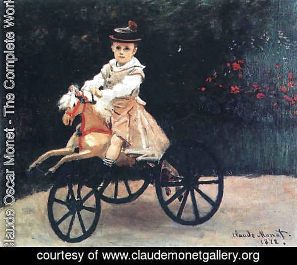 Claude Oscar Monet - Jean Monet on His Hobby Horse 1872