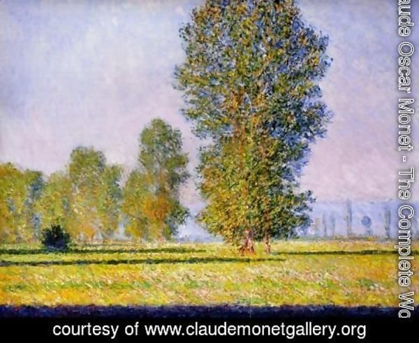 Claude Oscar Monet - Landscape with Figures Giverny 1888