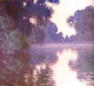 Claude Oscar Monet - Misty morning on the seine blue 1892