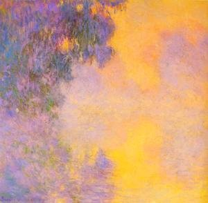 Claude Oscar Monet - Misty morning on the seine sunrise 1892