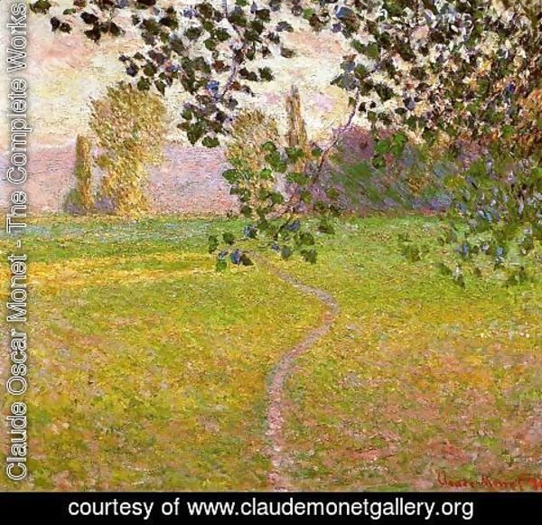 Claude Oscar Monet - Morning Landscape Giverny 1888