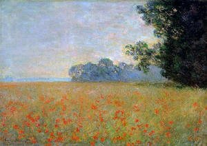 Claude Oscar Monet - Oat and Poppy Field2 1890