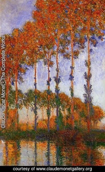 Claude Oscar Monet - Poplars on the Banks of the River Epte Sunset 1891