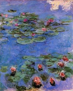 Claude Oscar Monet - Red Water-Lilies 1914-1917