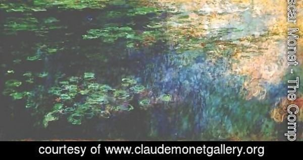 Claude Oscar Monet - Reflections of Clouds on the Water-Lily Pond (triptych left panel) 1920-1926