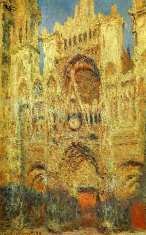 Rouen Cathedral at the End of Day Sunlight Effect 1892-1893